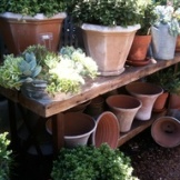 a potting table