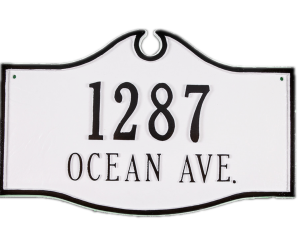 Address plaque from Wayfair